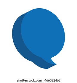 speech bubble message icon vector isolated graphic