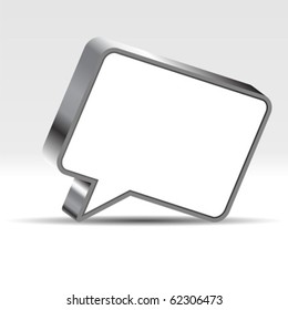 Speech bubble with negative space to insert text
