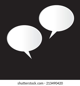 Speech Bubble on black Background