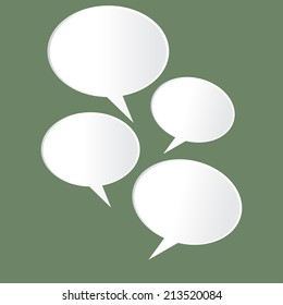 Speech Bubble on green Background
