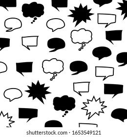 speech bubble pattern vector. You can use it in a group as background, wallpaper, wrapper, holiday prints, scrapbook, or even wedding. You also can use it separately become icon or logo template.