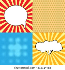 Speech Bubble in Pop-Art Style. lichtenstein pop art. Speech Bubbles in Pop-Art Style. Pop art comic background with space for coments. andy warhol pop art