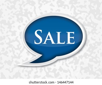 Speech Bubble of Sale