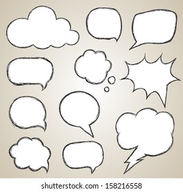 Speech bubble set. can use for promotion banner / object for printing, web, and brochure.