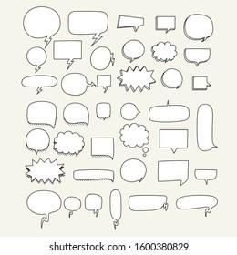 speech bubble set. empty speech bubble set. bubble text set vector