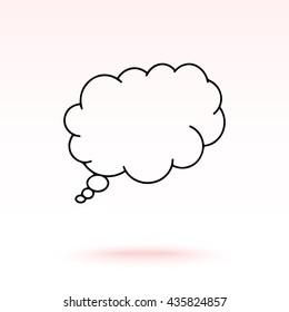 Speech bubble sign icon, vector illustration. Flat design style