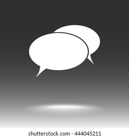 Speech bubble sign icon, vector illustration. Flat design style