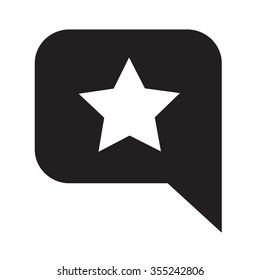 Speech Bubble star icon Illustration symbol design