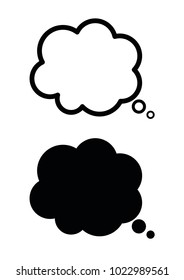 Speech bubble. Thought or Chat bubble simple icon vector isolated on white background