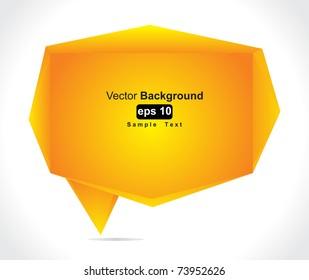 Speech bubble vector background
