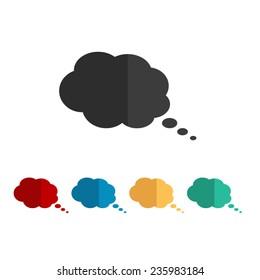speech bubble - vector icon, flat design