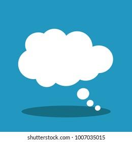 Speech bubble vector illustration