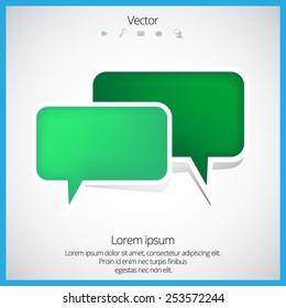 Speech bubble. Vector illustration
