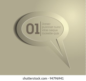 speech bubble vector / message icon vector