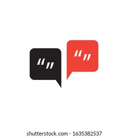 Speech bubbles and apostrophs, vector illustration