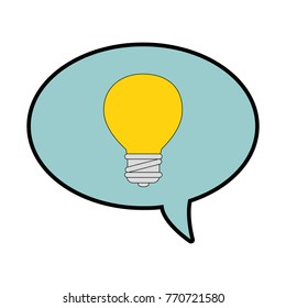 speech bubbles with bulb