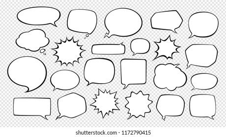 Speech bubbles. Cartoon vector illustration