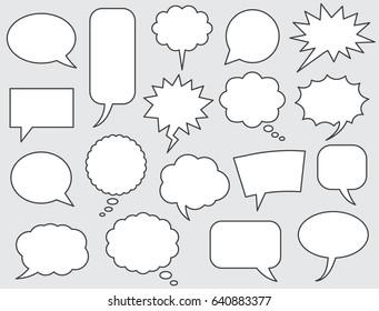 speech bubbles comics stroke line