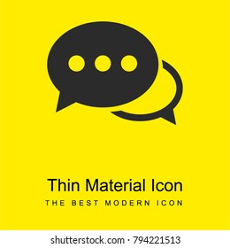 Speech bubbles with ellipsis bright yellow material minimal icon or logo design