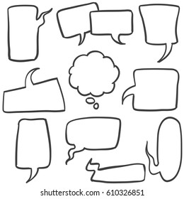 Speech bubbles hand drawn style