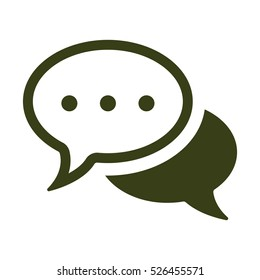 Speech bubbles Icon, flat design style