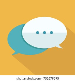 Speech bubbles icon over yellow. Vector illustration