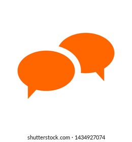 Speech bubbles Icon vector flat design. Flat vector illustration for web design, infographics and mobile app.