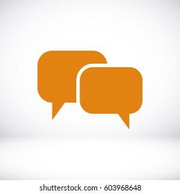 Speech bubbles icon, vector illustration. Flat design eps 10