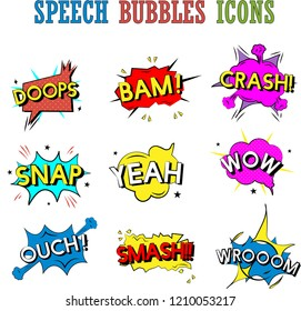 speech bubbles icons collection