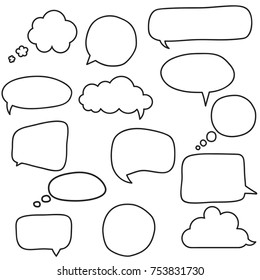 Speech bubbles lune set