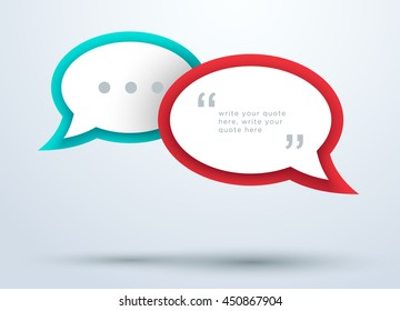 Speech Bubbles Overlapping With 3d Shadows Design B