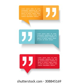 Speech Bubbles with quotes icon, vector eps10 illustration