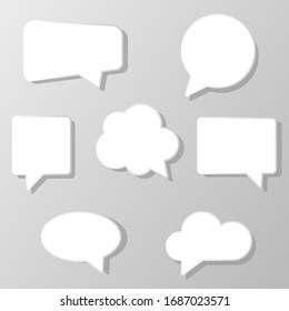 speech  bubbles set icons vector illustration