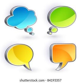 Speech Bubbles set on a white background