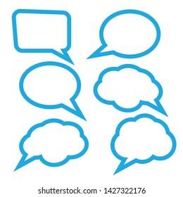 Speech Bubbles Set. Stickers of speech bubbles vector