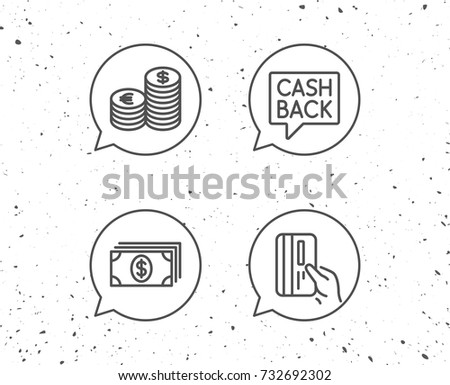 Speech Bubbles Signs Money Cash Credit Stock Vector Royalty Free