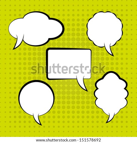 speech bubbles template high quality vector stock vector royalty