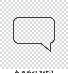 Speech bubbles transparent Icon