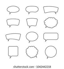 Speech bubbles. Vector illustration.