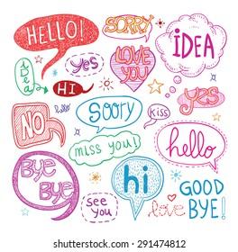 speech bubbles, vector illustration.