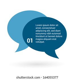 Speech bubbles vector. Modern design. Place for text.
