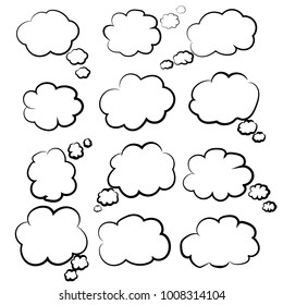 Speech buble illustration. Cloud. Vector Illustration. EPS 10