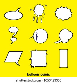 speech buble. Word balloons. comics