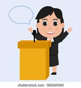 Speech businesswoman