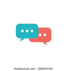 Speech chat bubbles vector illustration