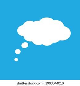 Speech cloud icon, flat style illustration