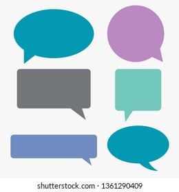 Speech communication bubbles collection, vector  illustration
