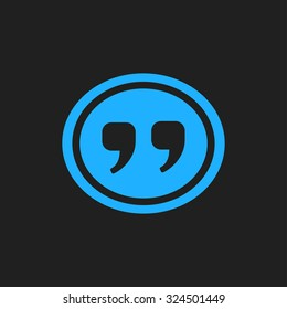 Speech icon. Dialog simbol. Chat quote sign.