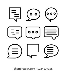 speech icon or logo isolated sign symbol vector illustration - Collection of high quality black style vector icons