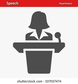 Speech Icon. Professional, pixel perfect icon optimized for both large and small resolutions. EPS 8 format.
